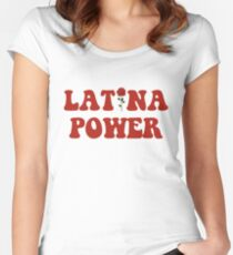 Latina Power Women's Fitted Scoop T-Shirt