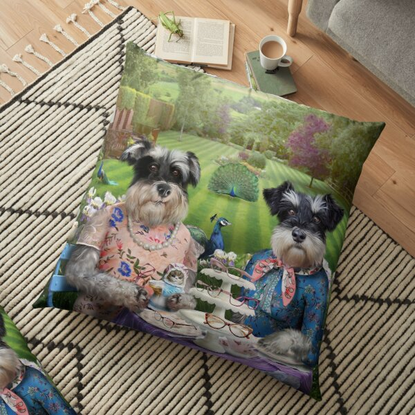 Portrait de chien - Doris et Patsy Coussin de sol