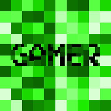 Green Pixel Gamer by umeimages