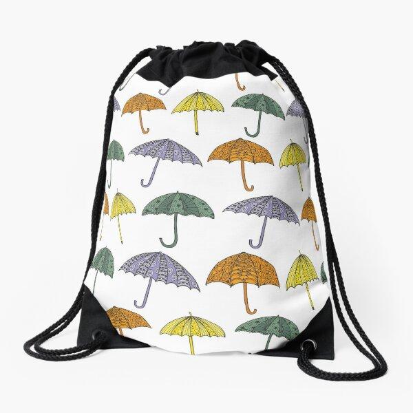 Umbrellas Drawstring Bag