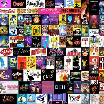 ¡MUSICALES! (Edredón, ropa, libro, almohada, etiqueta, estuche, taza, etc.) de thatthespian