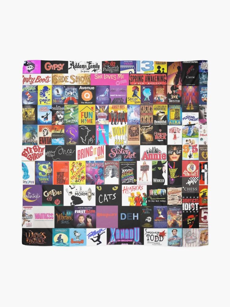 Alternate view of MUSICALS! (Duvet, Clothing, Book, Pillow, Sticker, Case, Mug etc)  Scarf