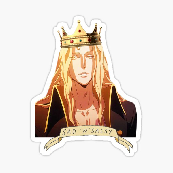 Alucard Sad and Sassy Sticker