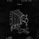 Vintage Camera Blueprint Drawing Sheet One by Glimmersmith