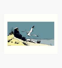 Corto Maltese at the seaside Art Print