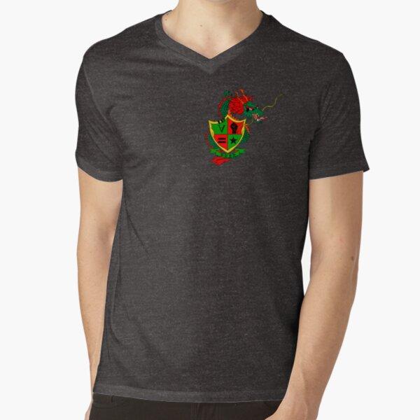 BUSHMAN FEDERATION   Coat of Arms (Logo Style) V-Neck T-Shirt