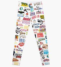 Musikalische Logos (Etuis, Bettdecken, Bücher, Kleidung usw.) Leggings