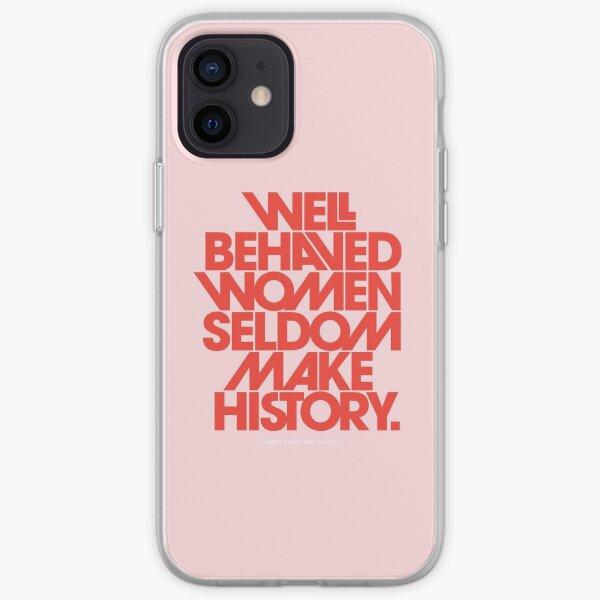 Laurel Thatcher Ulrich.  Inspirant. Autonomiser. De motivation. Pensez aux femmes comme Rosa Parks. Des femmes courageuses incroyables qui défendent quelque chose. Être inspiré.  © The Love Shop. Coque souple iPhone