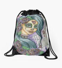 Sugar Skull Spider Face Drawstring Bag