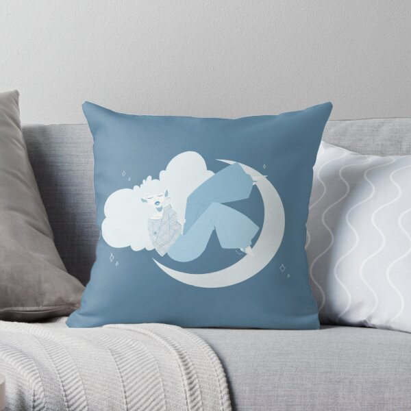 got your head in the clouds Throw Pillow