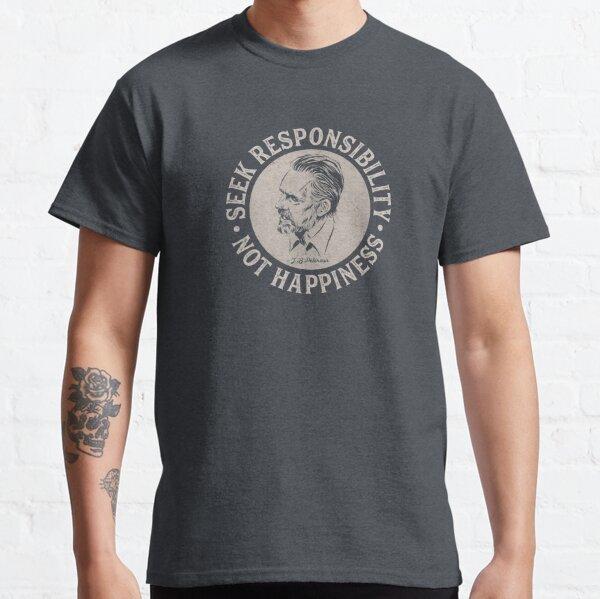 Jordan Peterson: busca la responsabilidad, no la felicidad (luz en la oscuridad) Camiseta clásica
