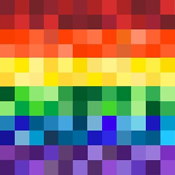 Pixelated Rainbow by umeimages