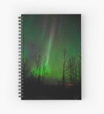 Straight Up Auroras  Spiral Notebook