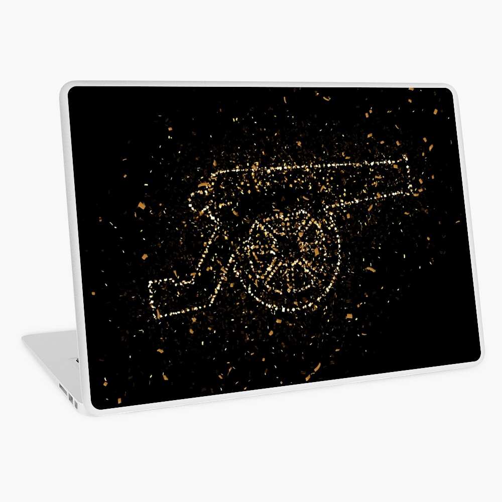 Cannon weapon history golden ornament Gold Laptop Folie