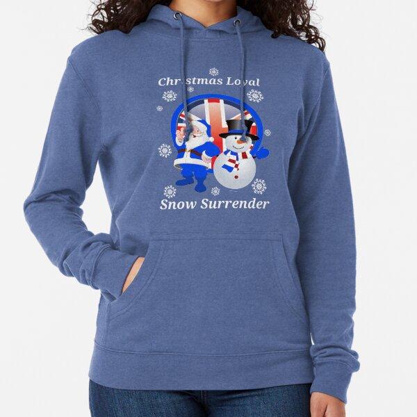 Christmas Loyal Snow Surrender Lightweight Hoodie