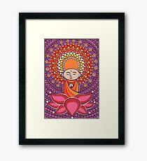 Jizo Meditating upon a Ruby Lotus Framed Print