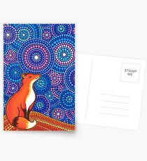Star Gazing Fox Postcards
