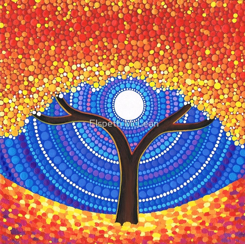 Quot Autumn Moon Quot By Elspeth Mclean Redbubble