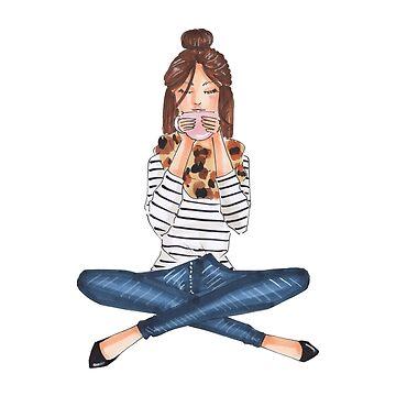 coffe girl by reyniramirezfi