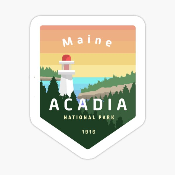 Acadia National Park Badge Sticker