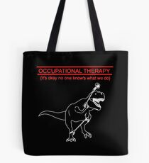 Occupational Therapy (Black background) Tote Bag