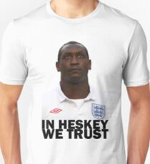 In HESKEY we trust - ENGLAND FOOTBALL T-Shirt