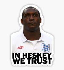 In HESKEY we trust - ENGLAND FOOTBALL Sticker