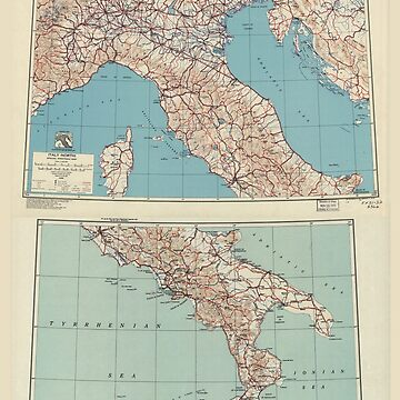 World War II Special Strategic Map of Italy (1943) by allhistory