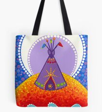 Tipi night time stories Tote Bag