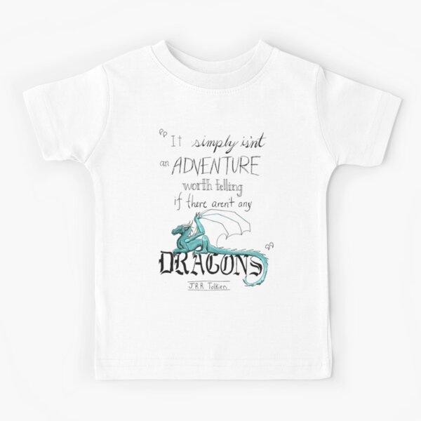 J.R.R. Tolkien Dragon quote Kids T-Shirt