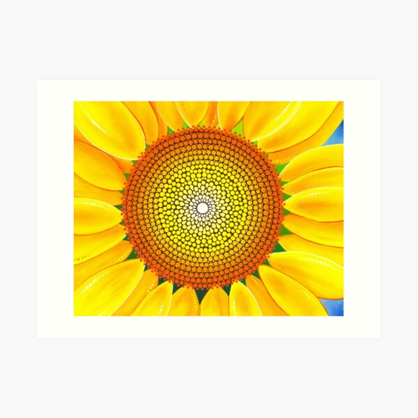 Beautiful sunflower of summer Art Print