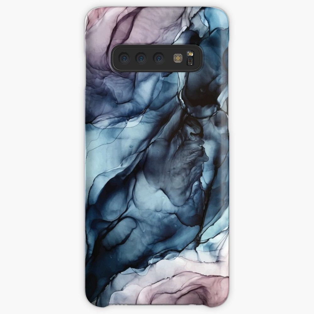 Blush and Darkness Abstract Alcohol Ink Painting Case & Skin for Samsung Galaxy