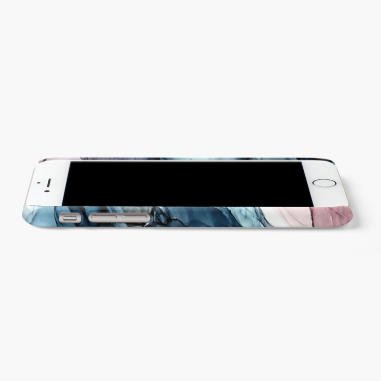 Alternate view of Blush and Darkness Abstract Alcohol Ink Painting iPhone Case & Cover