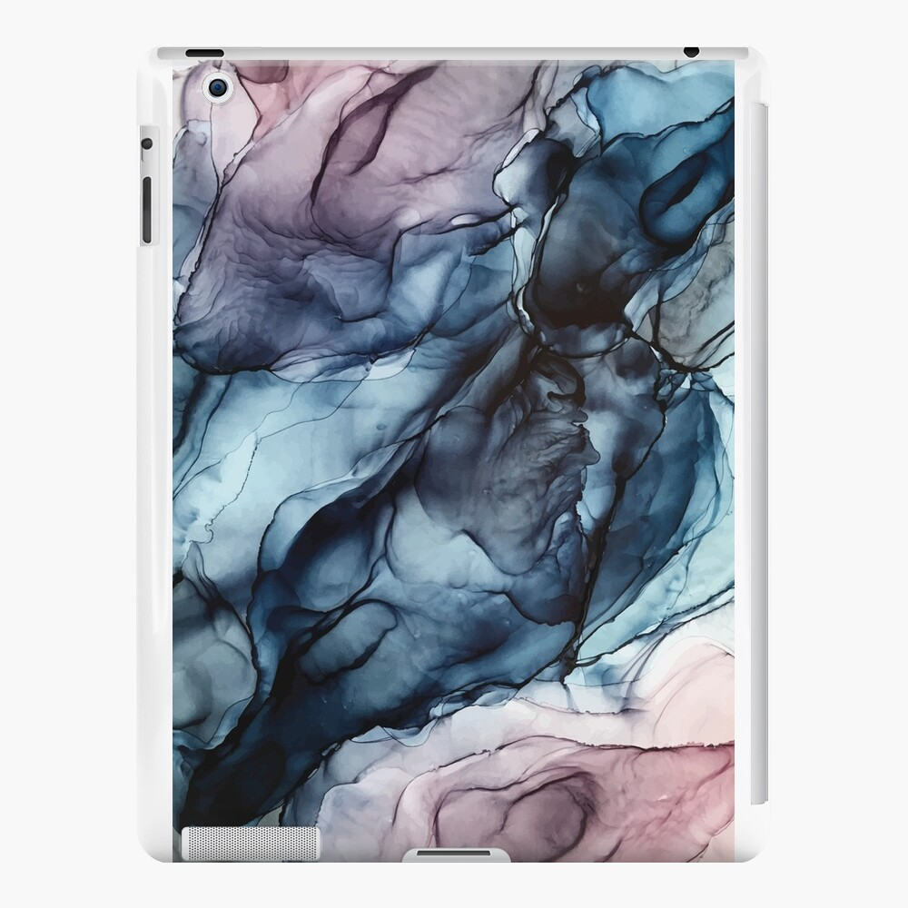 Blush and Darkness Abstract Alcohol Ink Painting iPad Cases & Skins