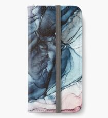 Blush and Darkness Abstract Alcohol Ink Painting iPhone Wallet/Case/Skin