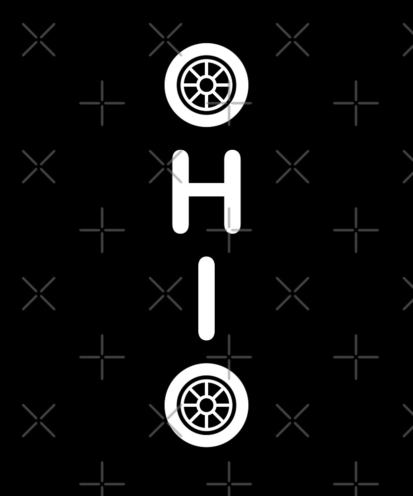 Ohio Tires Vertical Dark Monotone by TinyStarAmerica