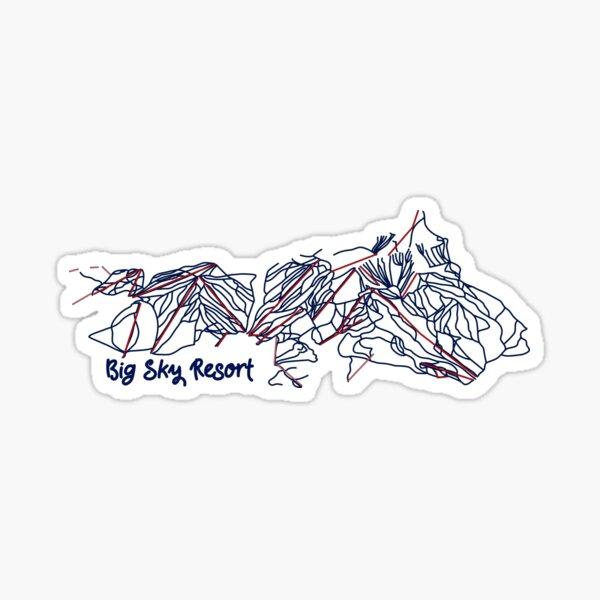 Big Sky Resort Trail Map  Sticker