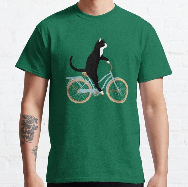 Chat sur un vélo T-shirt classique