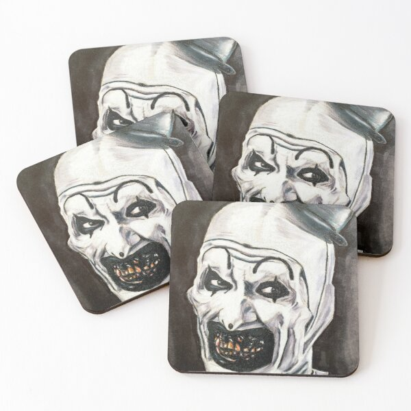 Art the clown of the terrifier  Coasters (Set of 4)