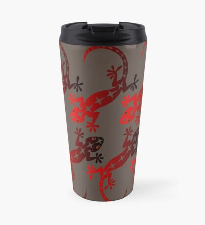 Red Lizard  Travel Mug