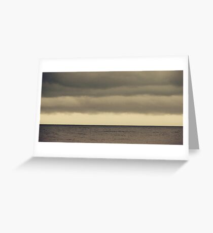 The Storm Came With Fury Greeting Card