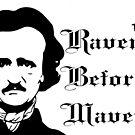 Edgar Allen Poe - Ravens before Mavens by Dea Poirier