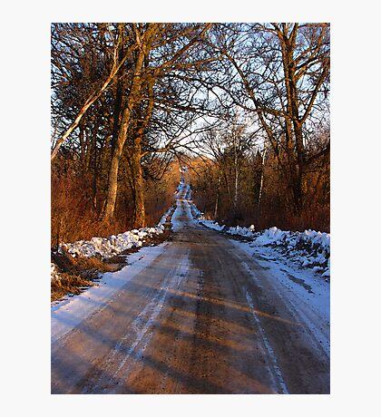 Winter Road Photographic Print