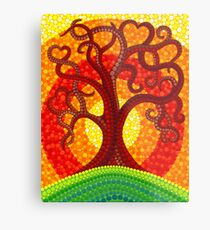 Autumn Illuminated Tree Metal Print