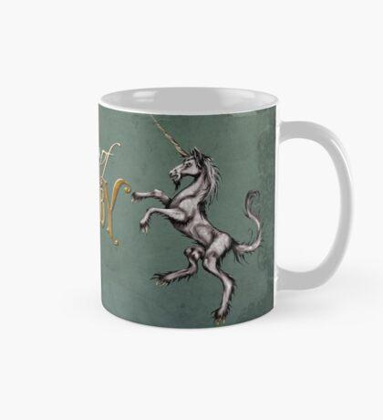 The Journal of Angela Ashby Unicorn Mug with colored background Mug