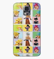 Funda/vinilo para Samsung Galaxy todas las transformaciones de goku - todas en una goku - fan arte goku tranformaciones