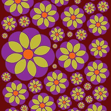 Hippie Purple Daisy by Surrealist1