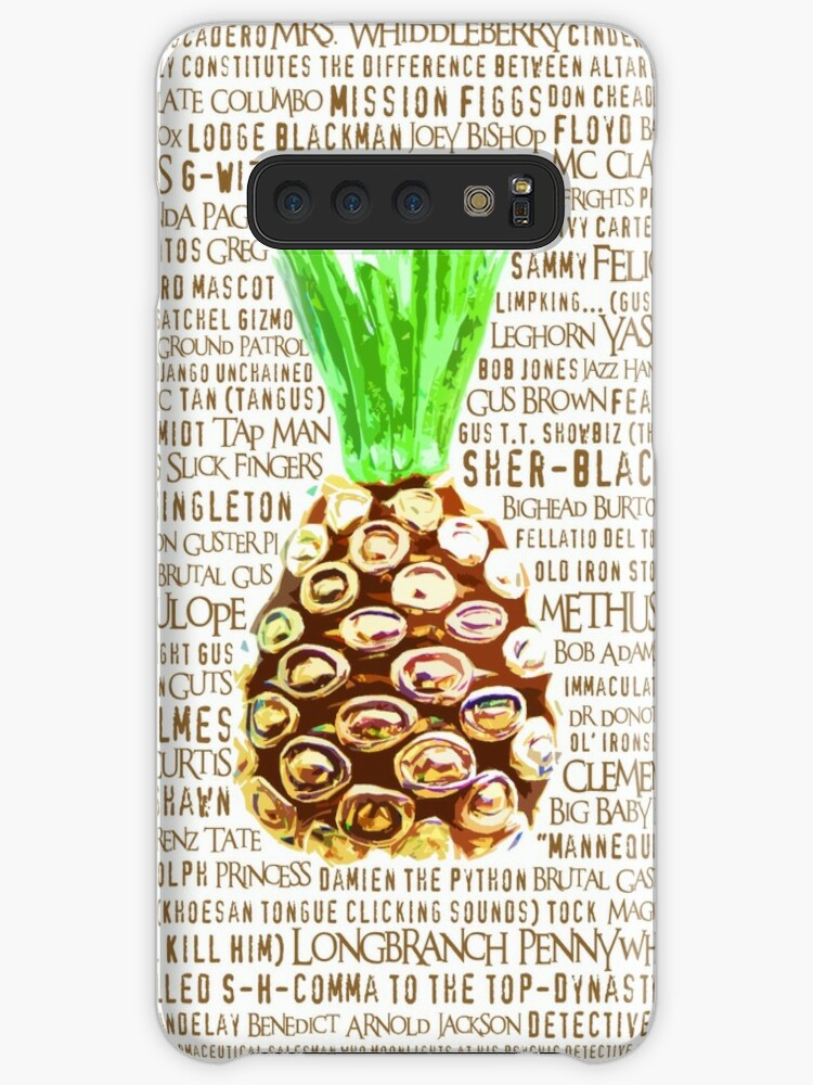 'Psych Burton Guster Nicknames - Television Show Pineapple Room Decorative  TV Pop Culture Humor Lime Neon Brown' Case/Skin for Samsung Galaxy by