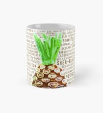 Psych Burton Guster Nicknames - Television Show Pineapple Room Decorative TV Pop Culture Humor Lime Neon Brown Mug