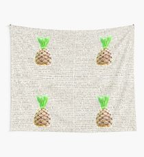 Psych Burton Guster Nicknames - Television Show Pineapple Room Decorative TV Pop Culture Humor Lime Neon Brown Wall Tapestry